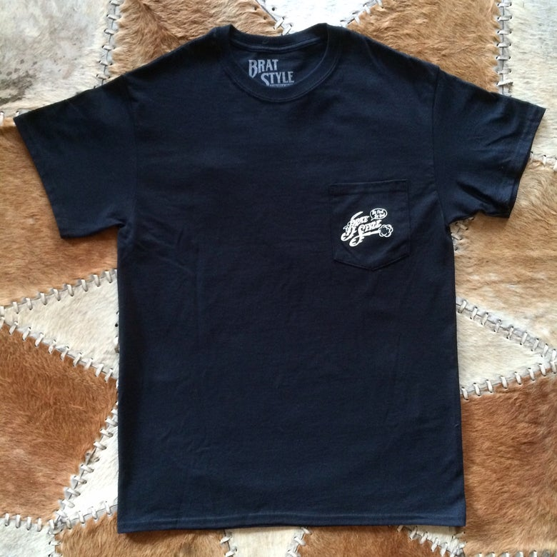 Image of INDIAN T-SHIRT with pocket BLACK