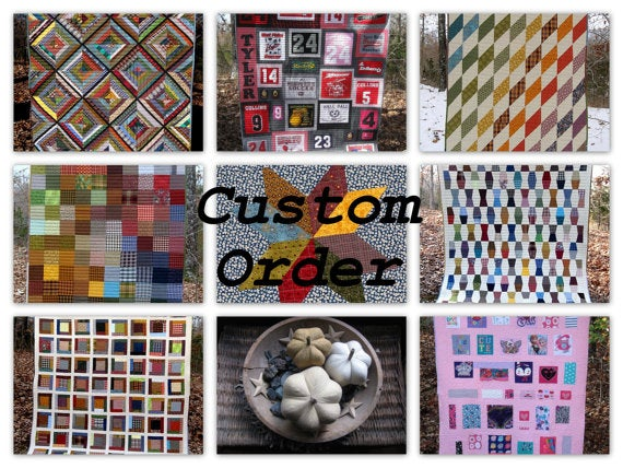 Image of Lisa T.- CUSTOM order - deposit for memory quilt