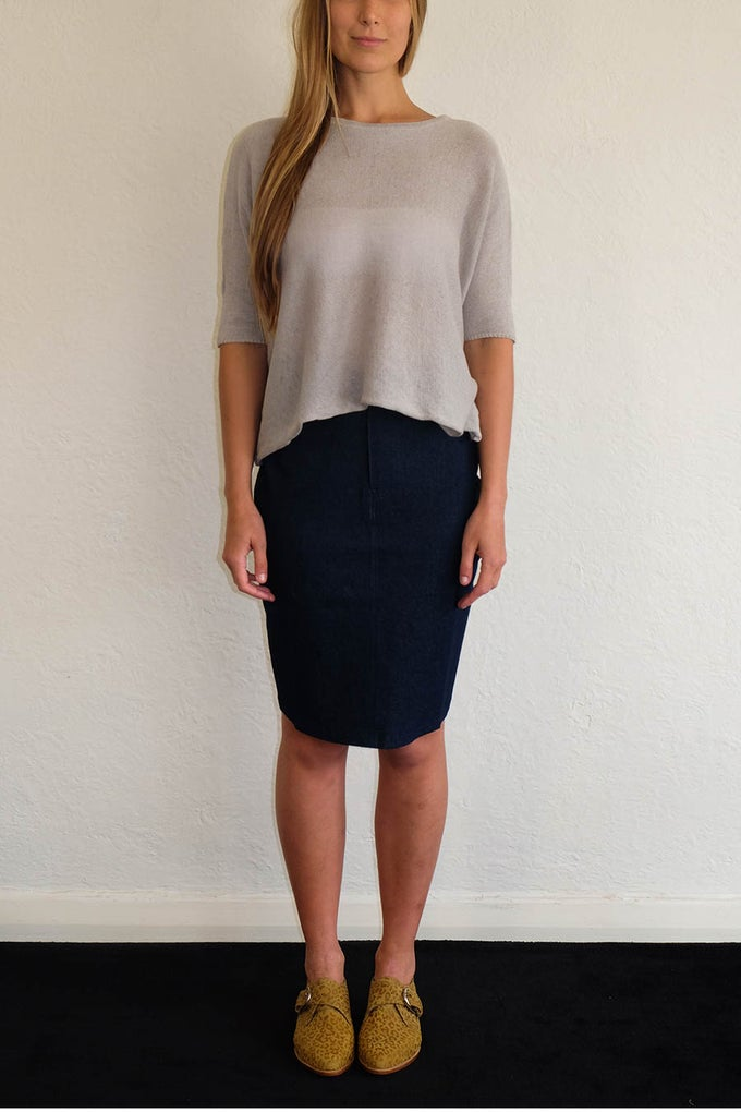 Image of TULIP SKIRT - DARK DENIM