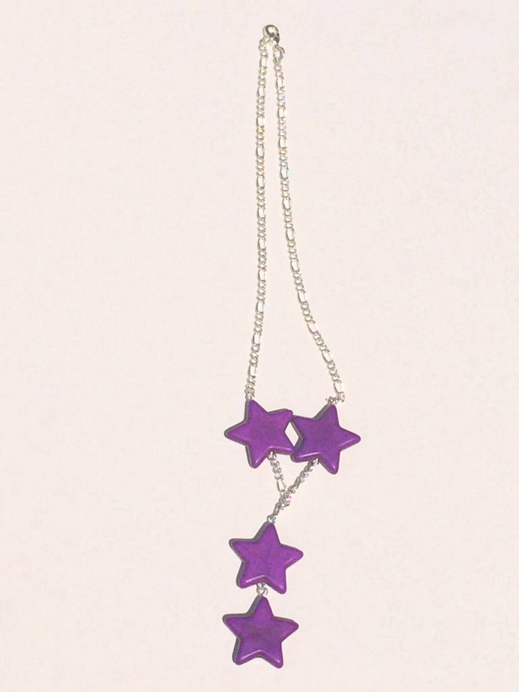 Image of Purple Howlite Star Necklace