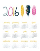Image of 2016 Feather Wall Calendar
