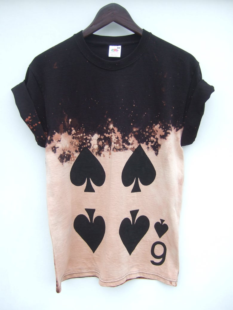 Image of 6 of Spades Acid Wash Shirt - 2 weeks pre-order