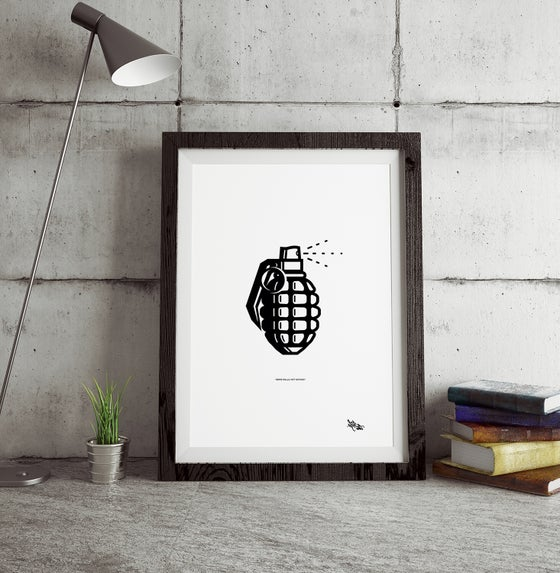 "Image of ""BOMB WALLS NOT NATIONS"" Art Print"