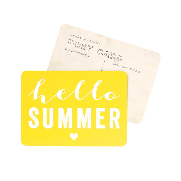 Image of Carte Postale HELLO SUMMER