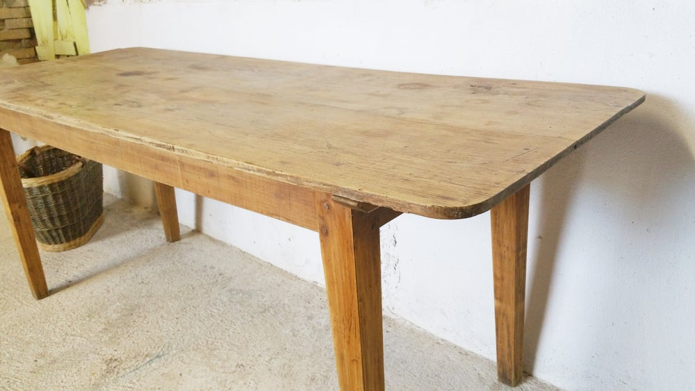 Image of grande table de ferme campagnarde