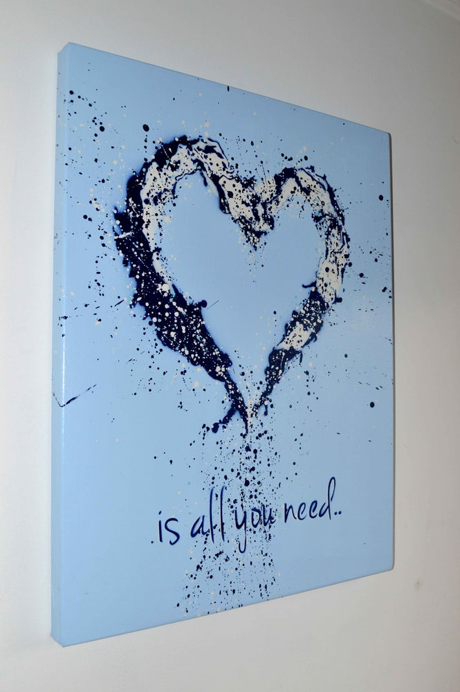 "Image of ""John Lennon was Right!"" Canvas Blue"