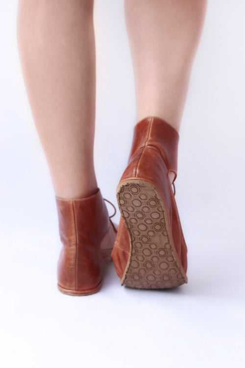 Image of Doll Ballet flats in Warm Brown