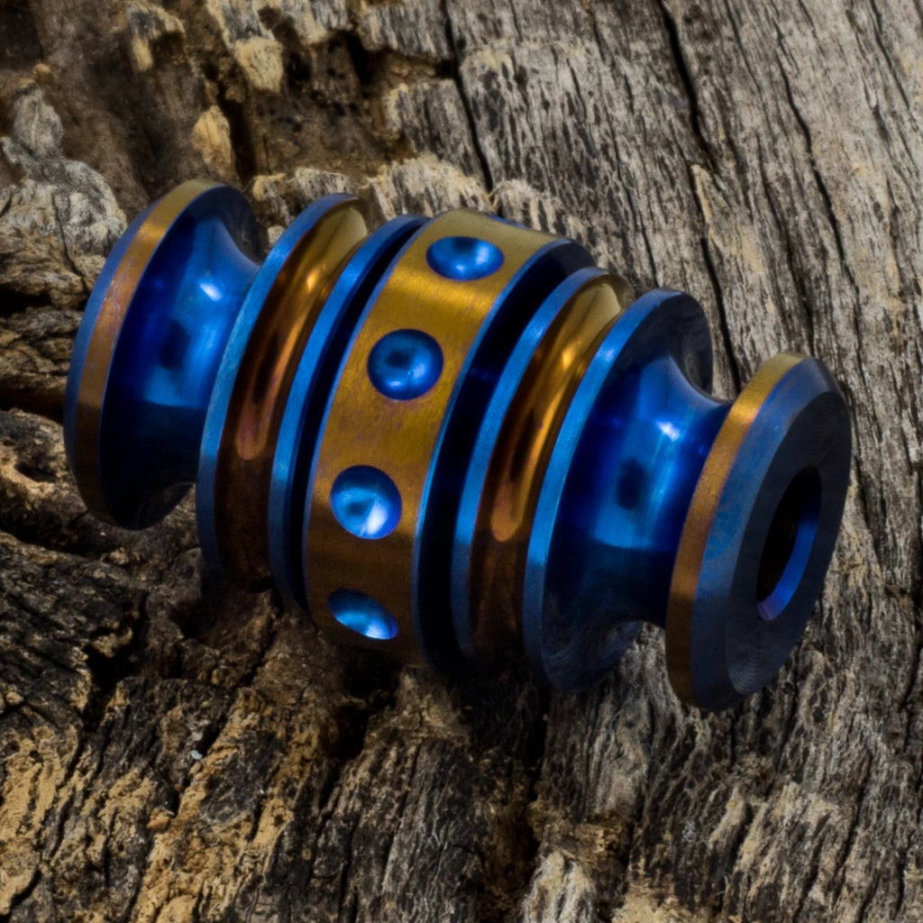 Image of Kong Bead Blue & Bronze #1