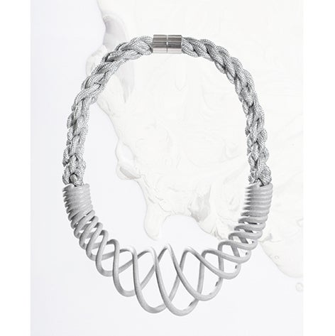 Image of ZOEE x ITUM silver unrope chunky necklace