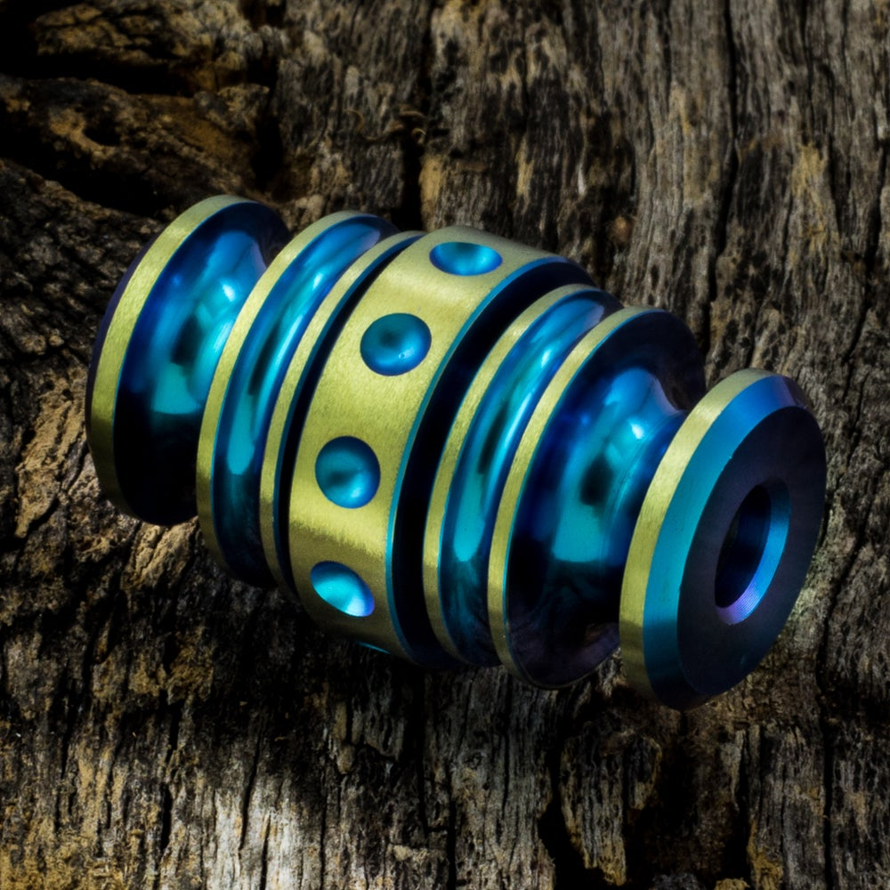 Image of Kong Bead Blue & Yellow #1