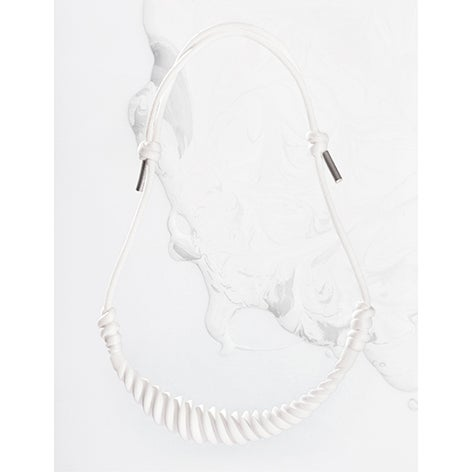 Image of ZOEE x ITUM white moon rope necklace