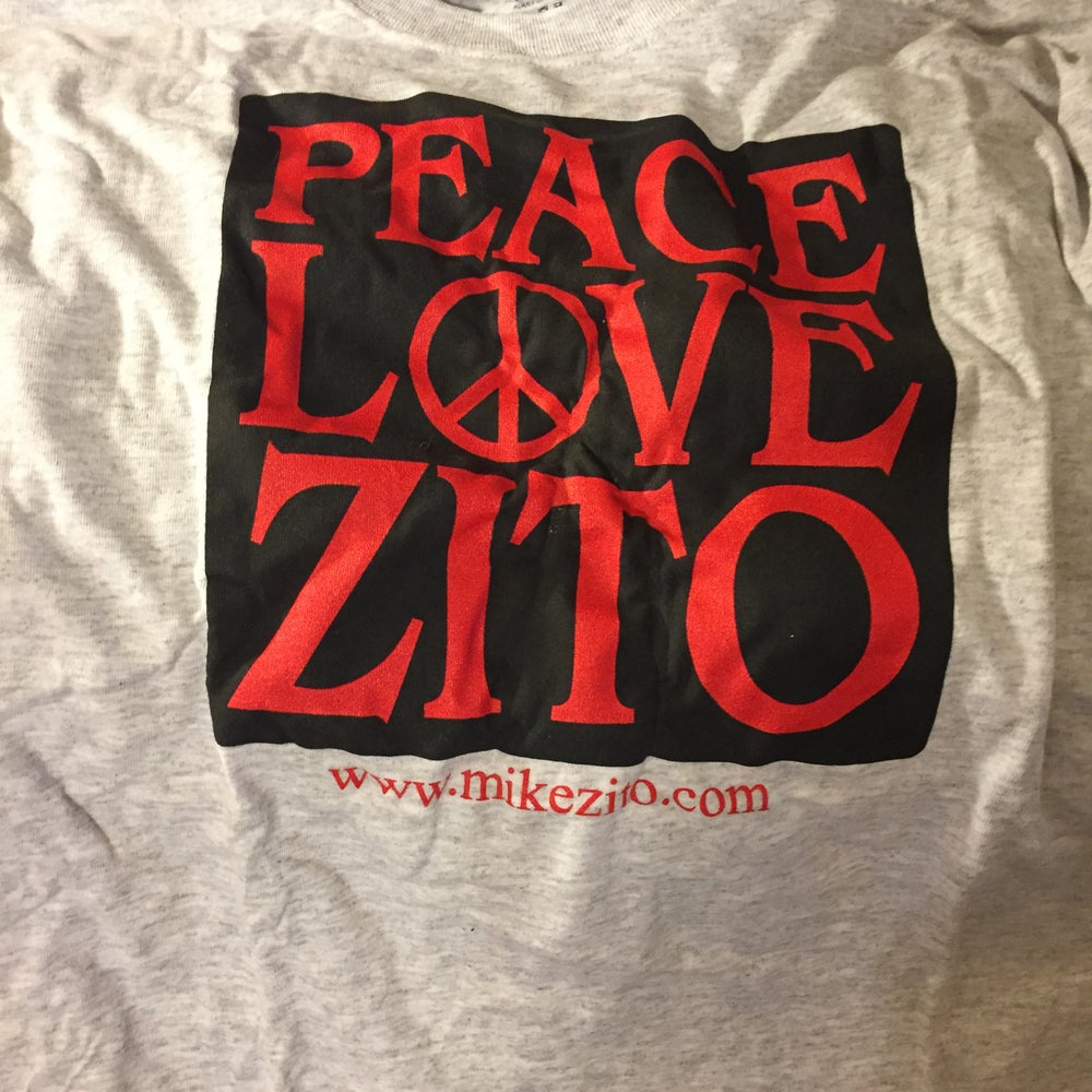 Image of PEACE LOVE ZITO (grey) - MENS T-SHIRT