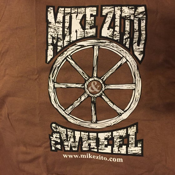 Image of Mike Zito and the Wheel (brown) mens t-shirt