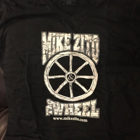 Image of Mike Zito and the Wheel (black) womens v-neck t-shirt