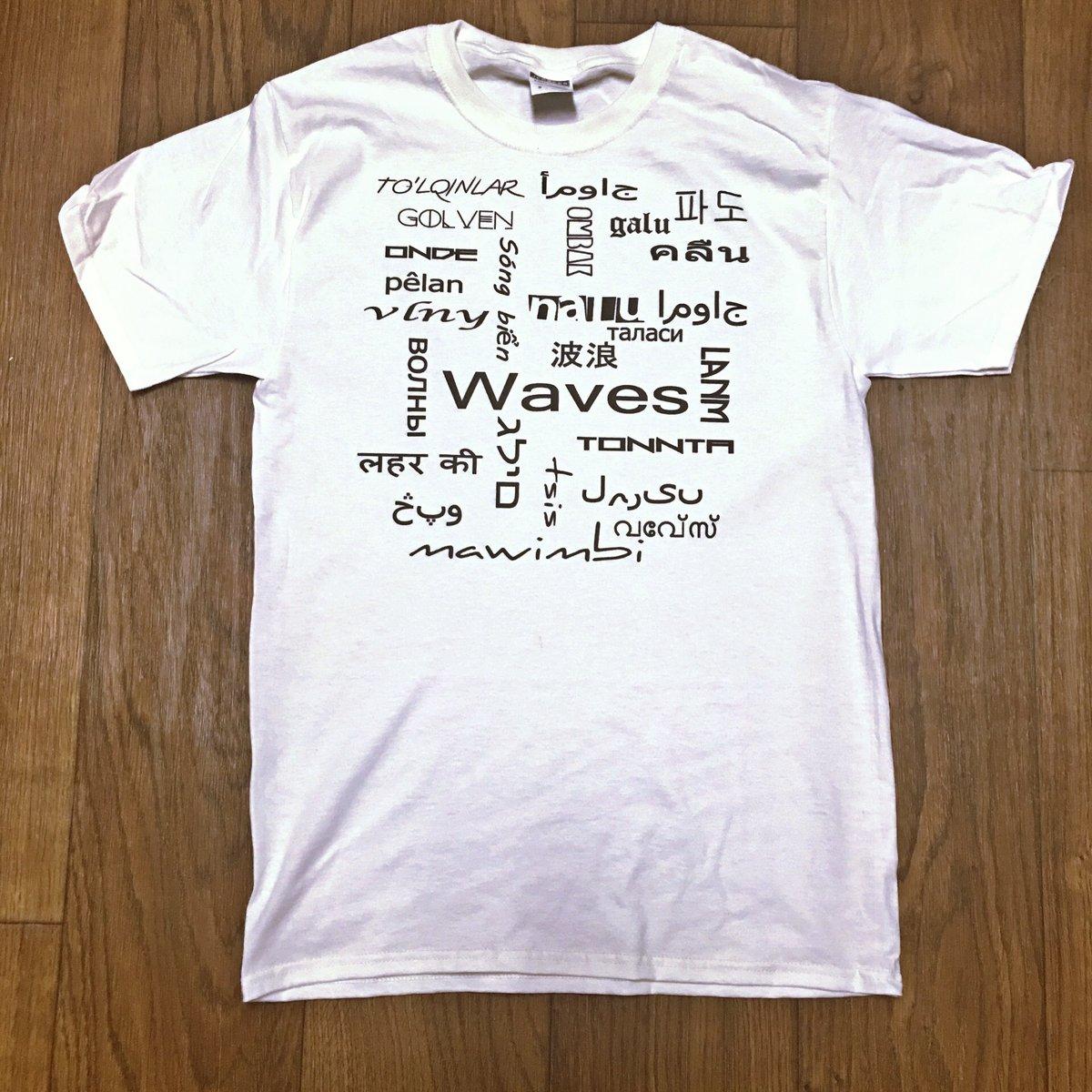 """Image of Tiki """"Waves"""" Language tee"""