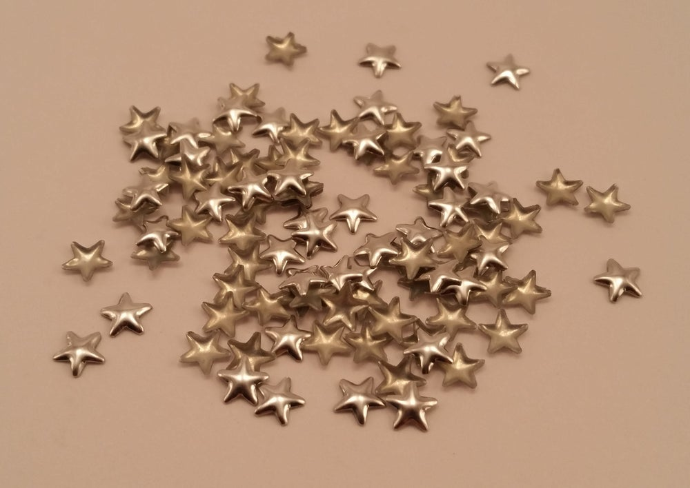 Image of Star nail art studs (100 pcs) Gold or silver 5x5mm