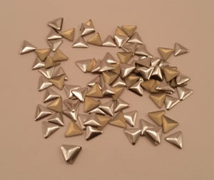 Image of Triangle nail art studs (100 pcs) Gold or silver 6x6mm