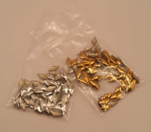 Image of Diamond nail art studs (100 pcs) Gold or silver 9x4mm