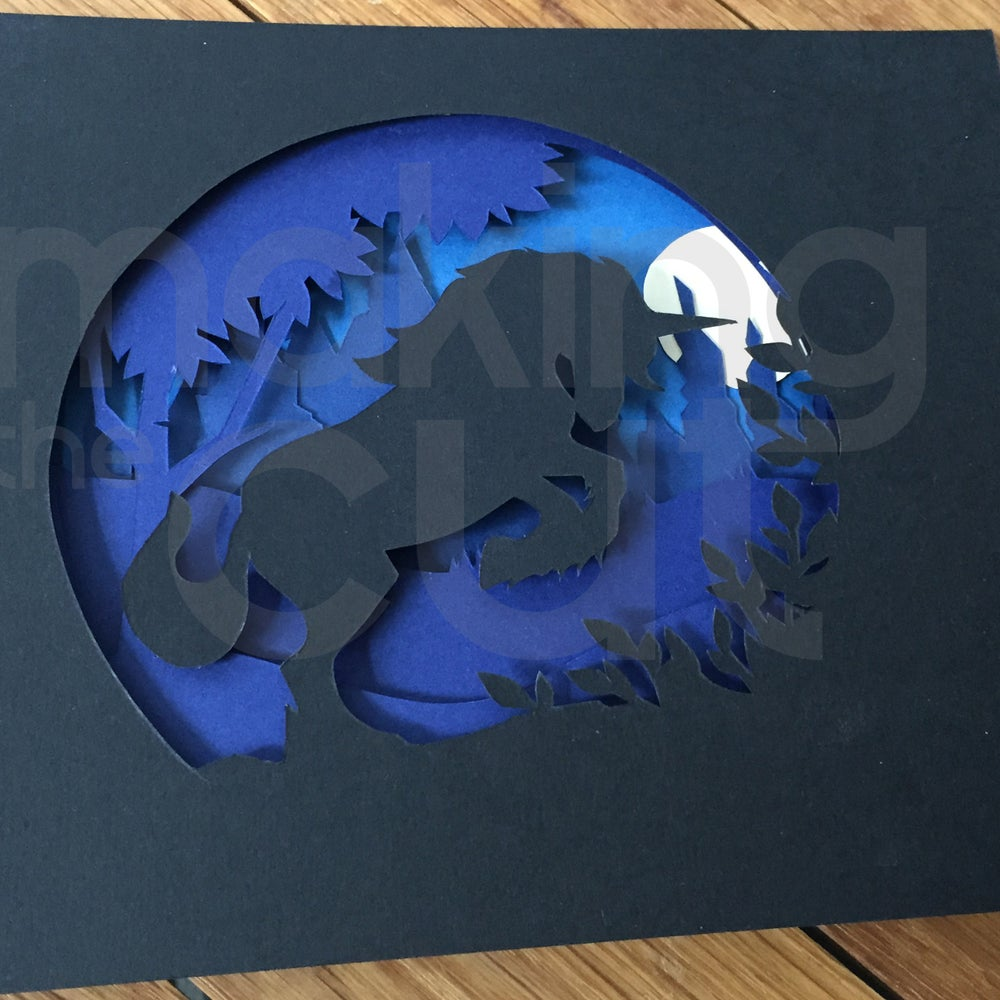 makingthecutdesigns shadow box paper cut template magic unicorn