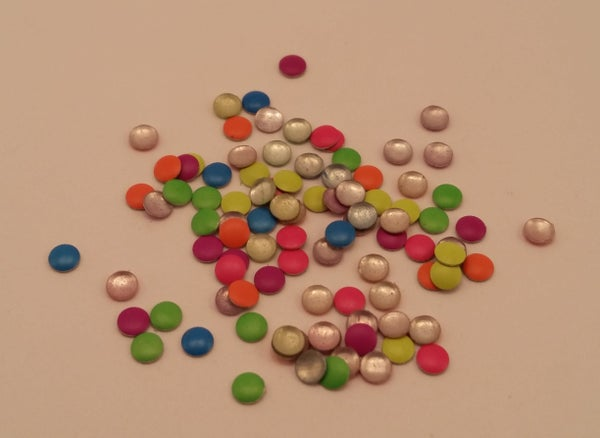 Image of Neon round nail art studs (100 pcs) 3mm Mixed colour