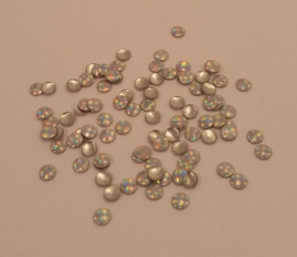 Image of Holographic nail art studs (100 pcs) 3mm Plain, stripe or dotty