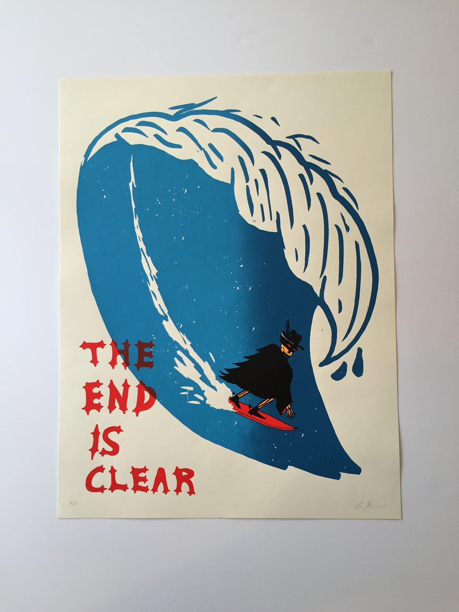 Image of eric kenney @heavyslime end print