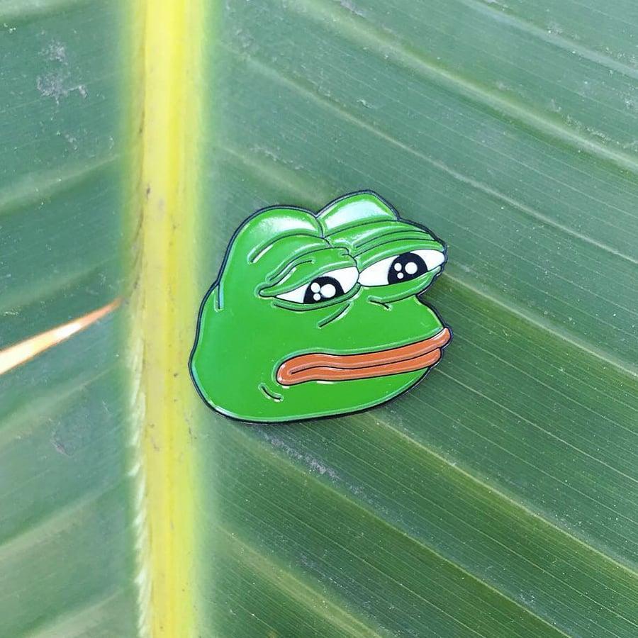 Image of 🐸 Pepe The Frog Lapel Pin (Pepe Memes, Rare Pepe)