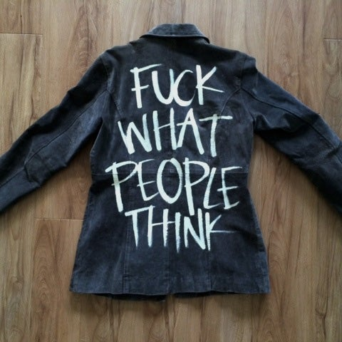 Image of Upcycled Vintage Women's F*ck Outerwear