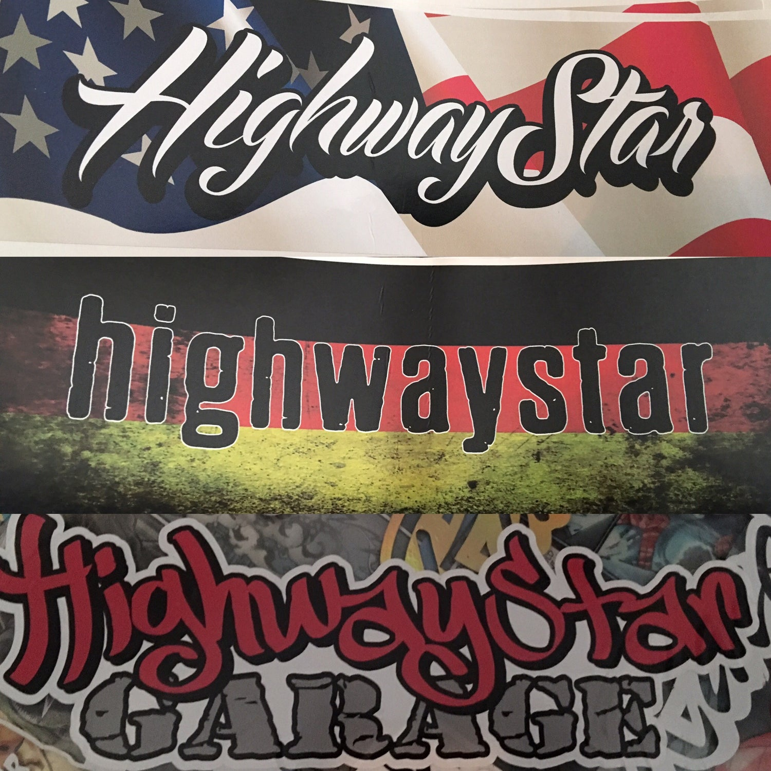 Image of HighwayStar Special Edition Bumper Stickers