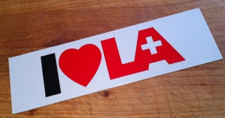 Image of I Love Helvetic.LA bumpersticker