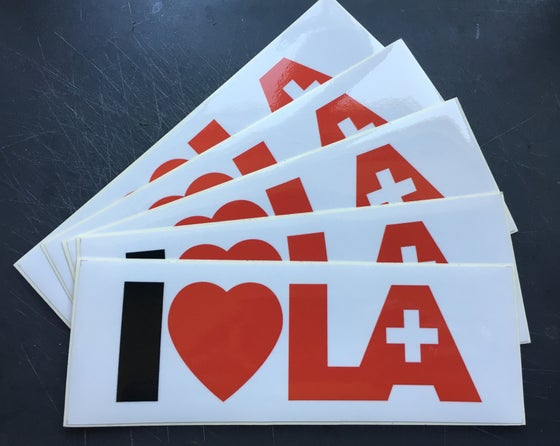 Image of I Love Helvetic.LA bumpersticker (4+1 FREE)