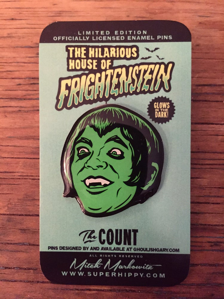 Image of The Count - Hilarious House of Frightenstein pin