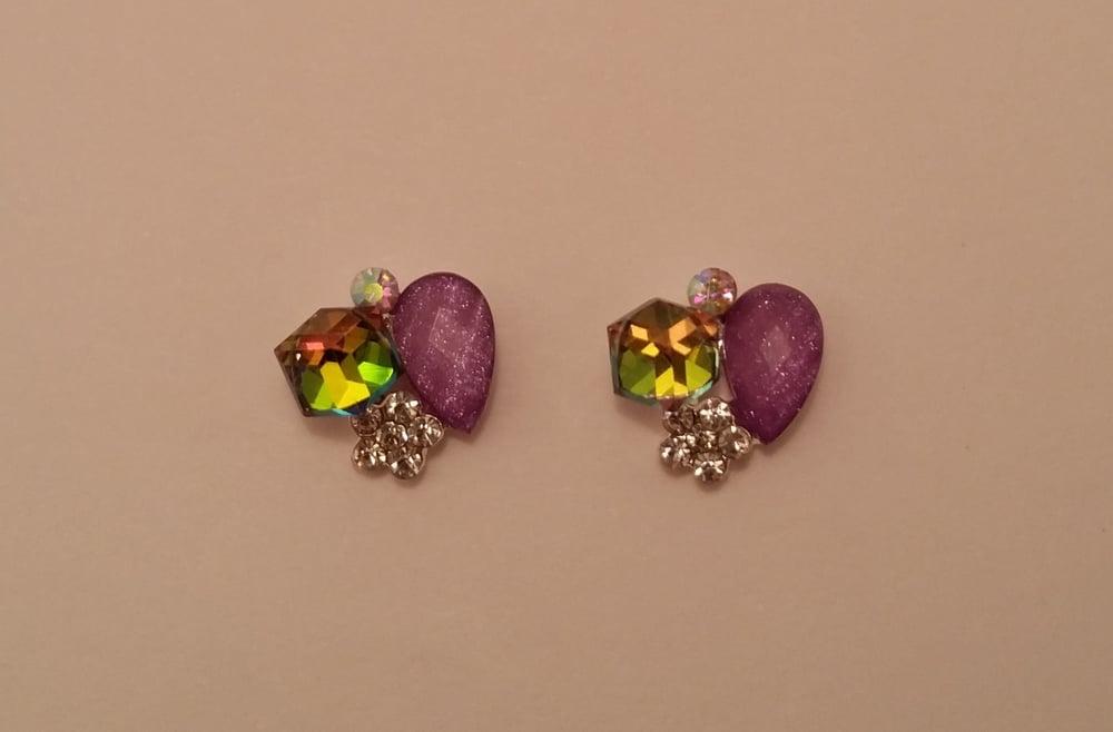 Image of Mystic purple nail charms (2 pcs) 12x10mm