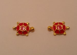 Image of Turtle nail charms (2 pcs) 15x10mm Black or Red