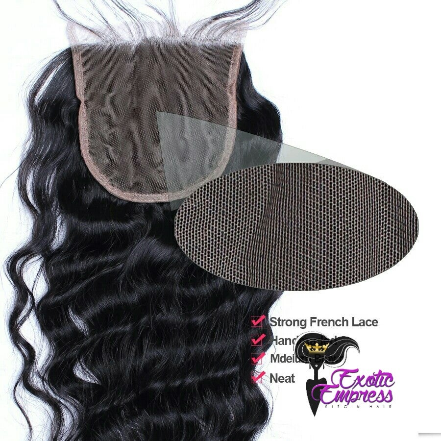 Image of Lace Closures Natural Straight/ExoticWave/Exotic Deep Wave 4X4