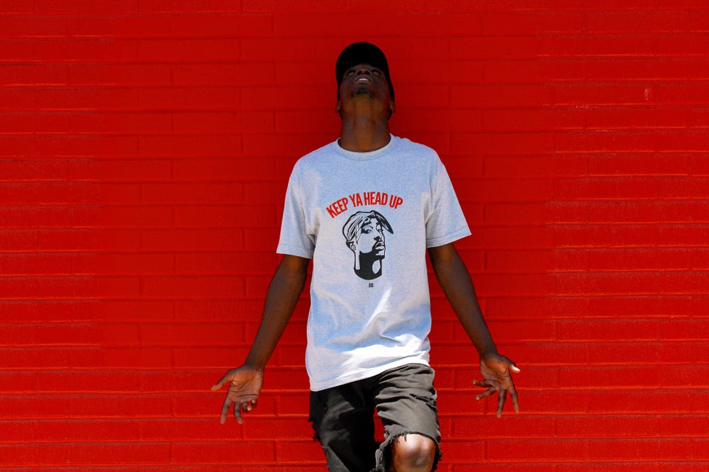Image of Gray KeepYaHeadUp Tee