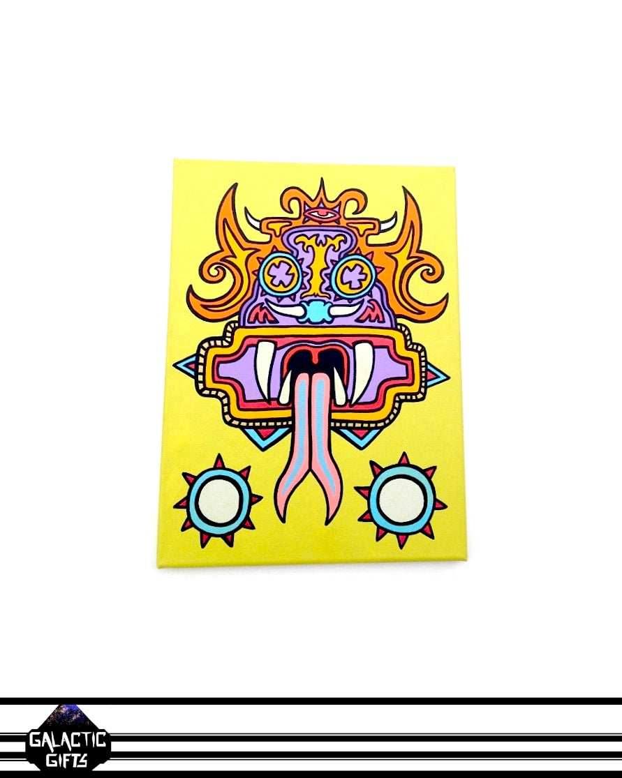 "Image of Cosmic Architect ""Aztec Dragon"" Painting"