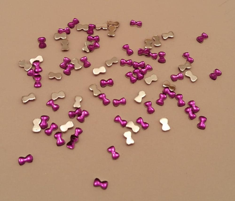 Shopstephyclaws Mini Bow Nail Art Charms 100 Pcs 3x2mm Purple