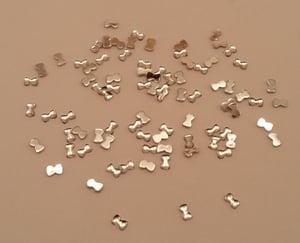Image of Mini bow nail art charms (100 pcs) 3x2mm Purple, black or silver