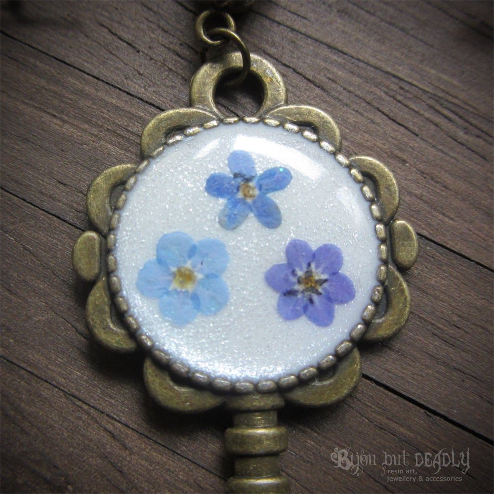 Forget-me-not  Key Necklace