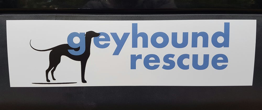 Image of Greyhound Rescue Bumper Sticker