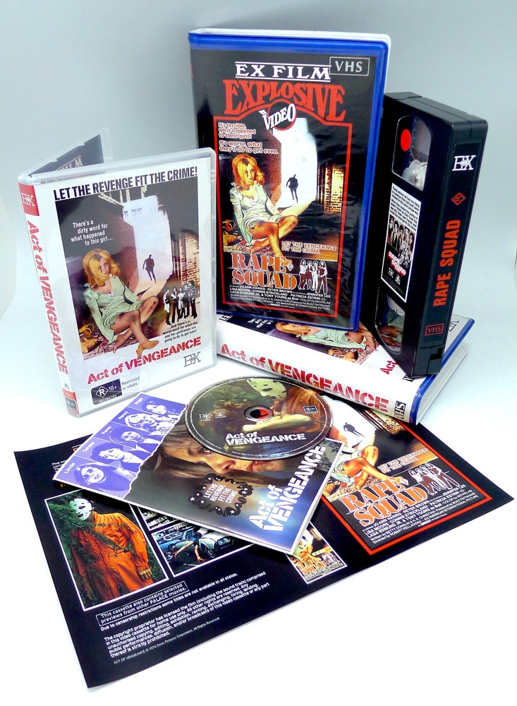 Image of ACT OF VENGEANCE - DVD +VHS Bundle