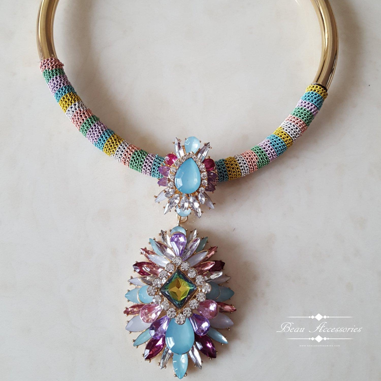Image of Rainbow Statement Necklace