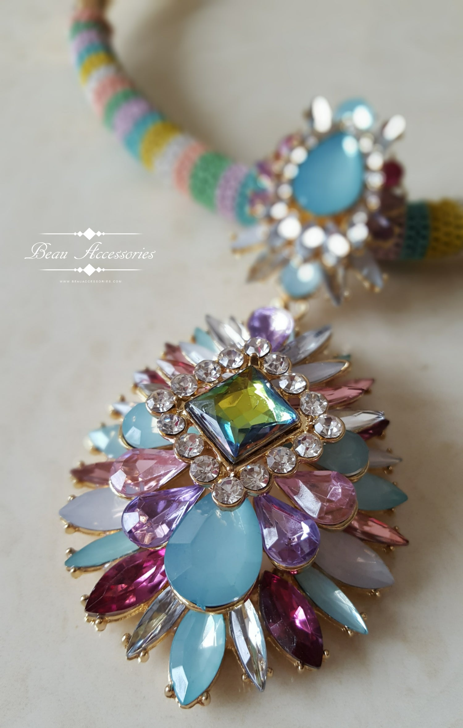 Image of Rainbow Statement Necklace