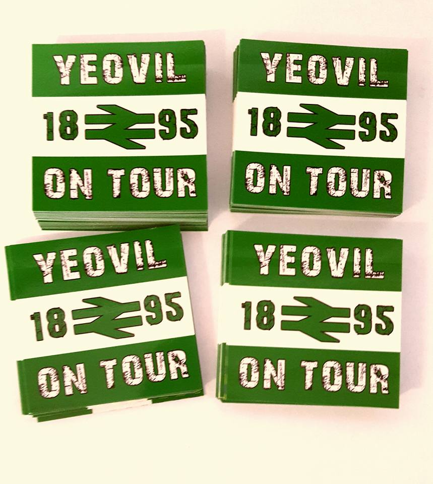 Yeovil Town 1895 On Tour Brand New 25 pack of 7x7cm Football/Ultras Stickers.