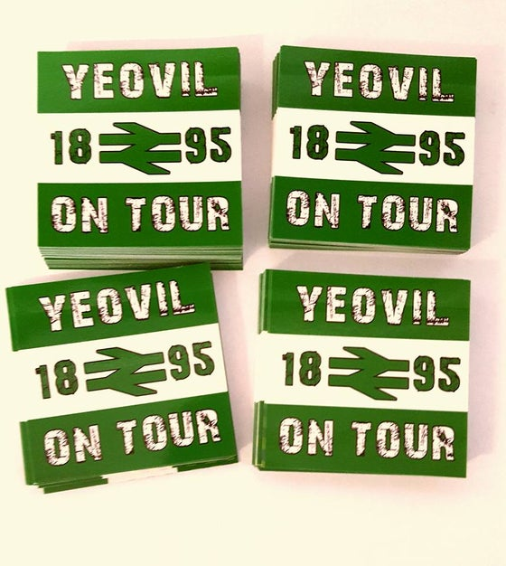 Image of Yeovil Town 1895 On Tour Brand New 25 pack of 7x7cm Football/Ultras Stickers.