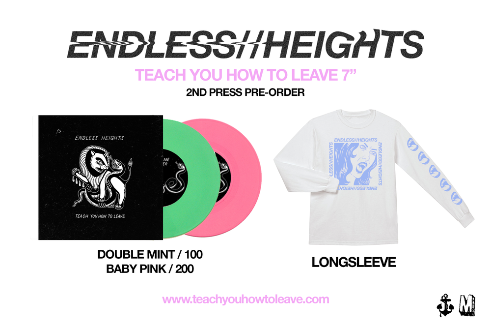 "Image of ENDLESS HEIGHTS 7"" Inch (1 Vinyl colour) + Longsleeve Pre-order"