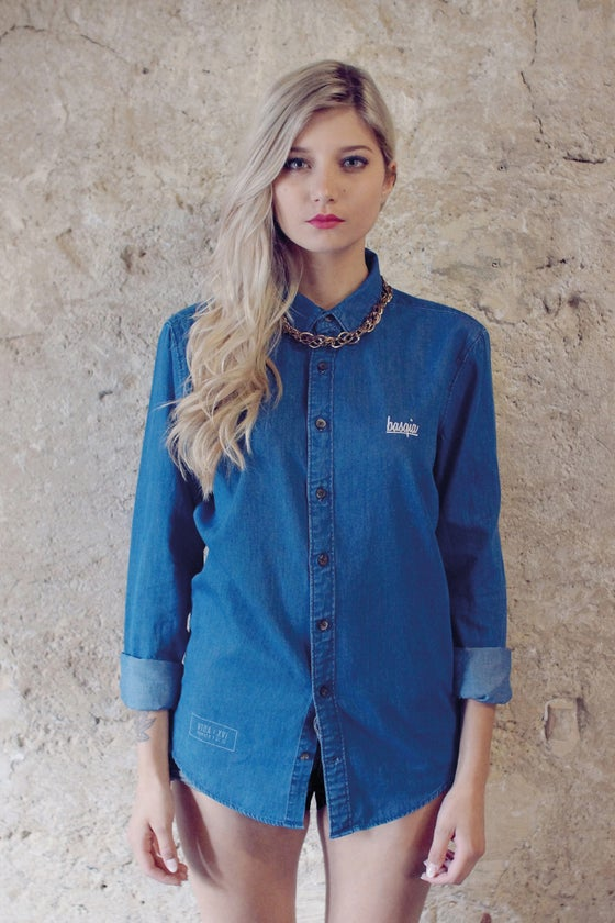Image of Logo Denim Shirt