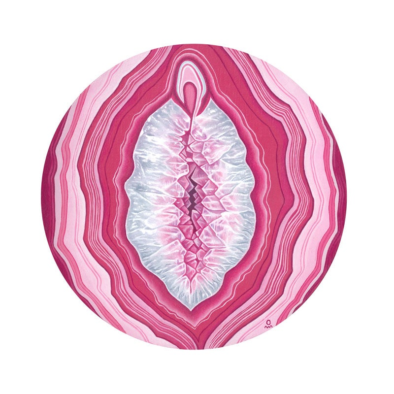 Image of Mother Mary Crystal Vulva