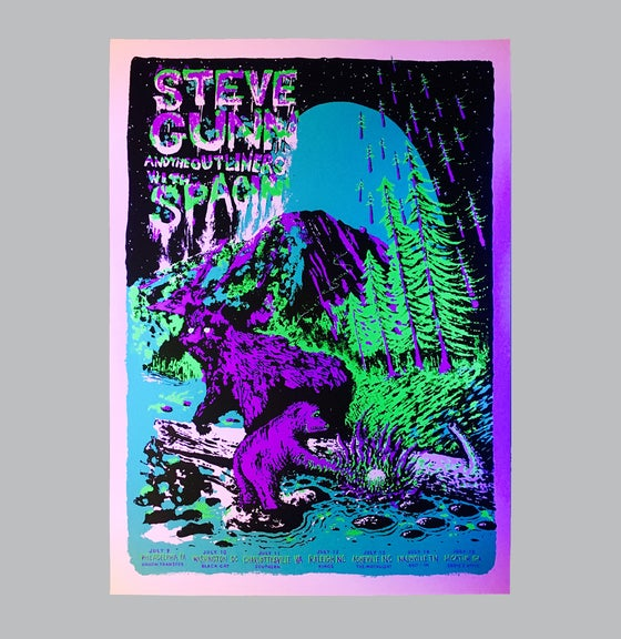 Image of Steve Gunn - Tür Poster (blacklight)